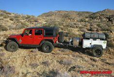 Review Bivouac Camping Trailers M.O.A.B. Overland Trailer: Off ... Off Road Tent Trailer, Trailer Build, Camping Trailers, Beach Jeep, Overland Trailer, Jeep Jk, Offroad, Monster Trucks, Landing