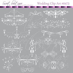 Chandelier Frames Clip Art Digital cliparts by MSweetboutique, $5.99