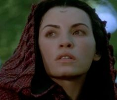 Morgaine from the Mists of Avalon movie and her forehead scarring tattoo restricted to those dedicated to the Goddess. ~ consultingdreamer on Tumblr