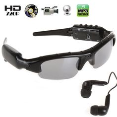 HD Sunglasses Video Recorder DVR Spy Sunglasses Camera DV Recorder Hidden Camera Camcorder With Hd Sunglasses, Spy Gear, Nanny Cam, Electronic Items, Hidden Camera, Spy Camera, Security Surveillance, Camcorder, Indie Brands