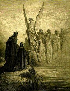 DORÉ, Gustave (1832-1883) The Celestial Pilot (Purgatorio, Canto II, vv. 43-44) Ed. Orig.