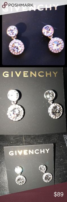 Givenchy brand new Swar-crystal earrings NEW!! Perfect NWT Givenchy crystal earrings ✨✨⬆️ Givenchy Jewelry Earrings