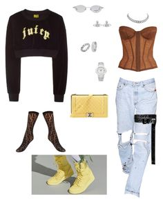 """Untitled #118"" by styledbyreily ❤ liked on Polyvore featuring NIKE, Chanel, Vivienne Westwood, Patek Philippe, Chopard and Fendi"