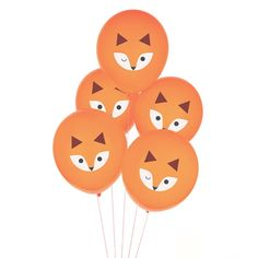 Fox Balloons - Animal Balloons - Woodland Balloons - Fox First Birthday - Woodland Baby Shower - Fox Birthday Decorations - Fox Photo Props Party Animals, Balloon Animals, Animal Party, Animal Balloons, Woodland Party, Woodland Forest, Animal Themed Birthday Party, Fox Party, Fox Decor
