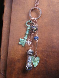 ✯ The Secret Garden Charm Necklace :: Etsy Shop EireCrescent ✯