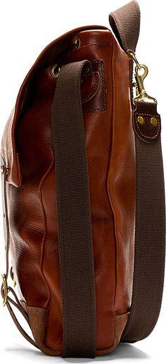 Junya WATANABE | Maroon Junya Watanabe X Seil Marschall Leather Backpack