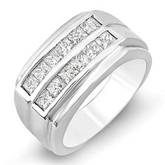 This lovely diamond Ring feature 1.35 ct white diamonds in Channel setting. All diamonds are sparkling and 100% natural. All our products with FREE gift box and 100% Satisfaction guarantee. SKU # KS11...