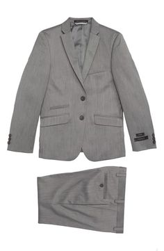 New Andrew Marc Two-Piece Suit (Big Boys). Toddler Suits, Kids Suits, Skinny Fit Suits, Light Up Sneakers, Andrew Marc, Fitted Suit, Suit Separates, Chino Shorts, Big Boys