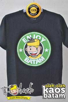 Enjoy Batam Hitam • Premium Quality • IDR 129000 • Official T-Shirt Merchandise from Batam City