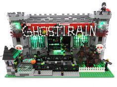 Lego Halloween, Halloween Treats, Portal Knight, Lego Worlds, Lego Projects, Lego Moc, Cool Lego, Lego Building, Train Rides