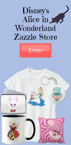 Welcome to the wonderful, whimsical world of Alice in Wonderland! Zazzle Store. Join Alice as she chases the adorable White Rabbit and journeys into an exciting adventure where things aren't quiet as they seem. The Alice in Wonderland merchandise features a whole host of products featuring all of your favorite characters such as the Mad Hatter, March Hare and the Queen of Hearts, from the timeless Disney classic. Take a look.