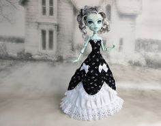 Monster High doll clothes outfit long black and by JonnaJonzon