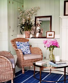 Schuyler Samperton {vintage country art deco rustic modern living room}