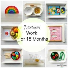 Since Mia approaching 18 months I added some new materials on our Montessori shelf. She is still usingMontessori Work from 12 to 14 Months.On her shelf she has: Lime wooden rainbow, Grimm's 17 cm…
