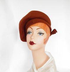 @isabellegeneva Vintage 1940s hat, tilt beret, WW2 era by TheVintageHatShop on Etsy