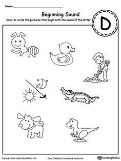 Letter B Beginning Sound Picture Match Worksheet  Printable