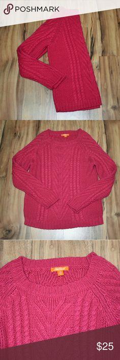 Cozy chunky knit pink sweater Large • Joe Fresh • EUC Joe Fresh Sweaters
