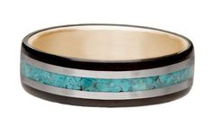 Northwood Rings bentwood rings  stone inlays, gold accents