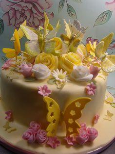 Yellow butterfly cake  | by elizabethscakeemporium