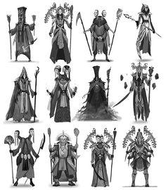 A set of character thumbnails for a few constellation deities for Elder Scrolls Online. #tbt #throwback #art #artist #digitalpainting #2dart #drawing #digitalart #digitalillustration #conceptart #characterdesign #thumbnails by jandrew_