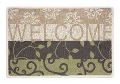 """Cybil 17.5 x 27 Entrance Mat Berber Door Mat by Berber Door Mat. $16.25. Made of rugged Berber loop. Use indoors or outdoors. Stain and fade resistant. Skid resistant stic-tite backing. Easy care with machine wash. Stain and fade resistant 17.5"""" x 27"""" rug made of rugged Berber loop. The skid resistant backing does not stain or fade floors. Can be used indoors or outdoors. Made in USA."""