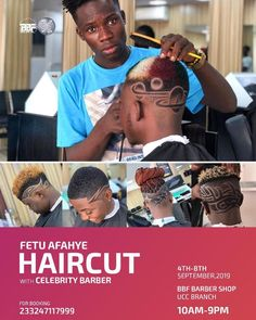 Cape Coast are you ready? BBF present to you the African Best Barber He's repping live this… Best Barber, Barber Shop, Cut My Hair, Hair Cuts, Cape, Presents, African, Celebrity, Instagram