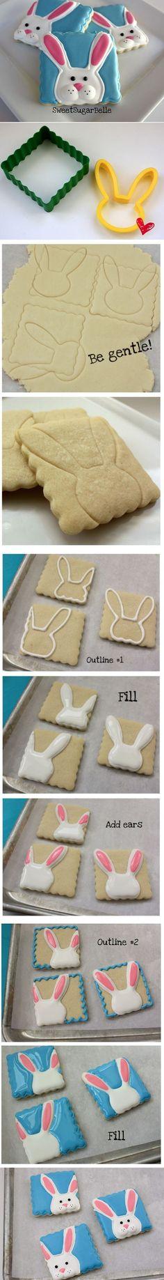 DIY Peeking Bunny Cookies