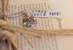 Coast Guard Wife Stamped Necklace. Coast Guard on Etsy