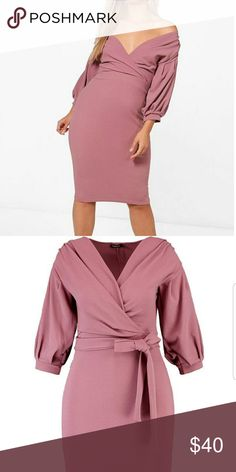 Plus Size Wrap Midi Dress Nwt plus size pink off the shoulder wrap dress. Midi length. Available in other colors and sizes. Size 14, true to size. Dresses Midi