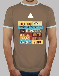 #Triangolo hipster (camicia scura)  ad Euro 18.99 in #Tostadora #T shirt uomo