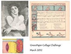 monthly Green Paper Collage Challenge