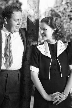 Charles Laughton and Maureen O'Hara, 1939