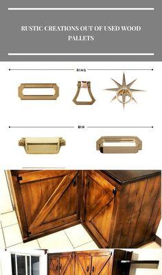 Brass hardware kitchen furniture