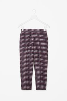 COS | Slim-fit jacquard trousers
