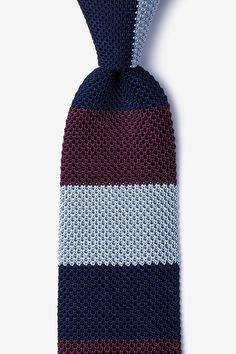 Belgian Color Block Knit Tie #tiesdotcom #winter #knit #tie
