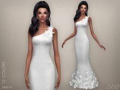 BEO Creations: Butterflies wedding dress • Sims 4 Downloads