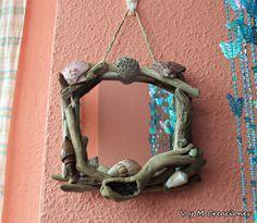 Espejo para la pared pequeño. REF. 3 driftwood por VyMCreaciones