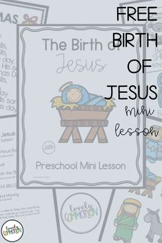 Teaching your preschool, pre-k or kindergarten children about the Birth of Jesus? This mini lesson is the perfect way to help your students learn all about it. It includes visuals for re-telling, book recommendations, movement cards and a song.