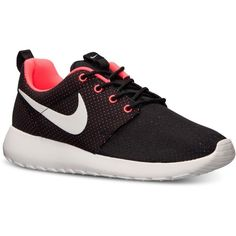 Nike Women's Roshe Run Casual Sneakers from Finish Line ($75) ❤ liked on Polyvore featuring shoes, sneakers, nike, nike sneakers, nike trainers, nike footwear, nike shoes and synthetic shoes