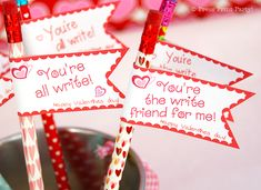 Free Printable Valentines Day Pencil Topper by Press Print Party!