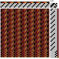 2/2 Twill (and plain weave) Weaving Draft