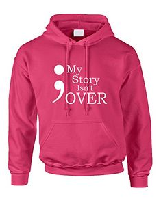 1c7be6da7e5 Allntrends Adult Hoodie My Story Isn t Over Semicolon Hooded Top Senior  Week