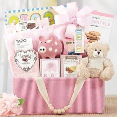 Baby Girl Animal Friends Basket. See more at www.pro-gift-baskets.com!
