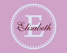 Name and Initial Vinyl Wall Decal Border Personalized Monogram Wall Decal Girl Baby Nursery Room Wall Art 23Hx23W - M006. $29.00, via Etsy.