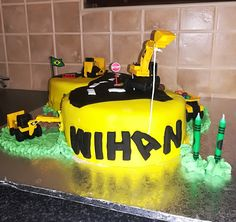 Construction cake for Wihan's 2nd birthday