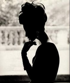 Shadow / woman / lady / silhouette / black and white