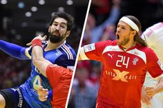 French Nikola Karabatic and Danish Mikkel Hansen - the Worlds two best handball players (in my opinion) - now play together for PSG in Paris