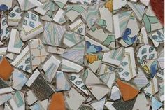 Everyone has broken china dishes at some point. Perhaps the dish was a one-dollar purchase from a yard sale or maybe it was a piece of your wedding china. Either way, you don't have to throw away the bits. Broken China Crafts, Broken China Jewelry, Mosaic Crafts, Mosaic Projects, Dremel Projects, Craft Projects, Concrete Projects, Craft Ideas, Project Ideas