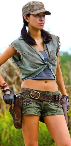 Christian Serratos as Rosita on The Walking Dead