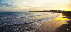 Atardecer en la playa de los Naufragos (Torrevieja)